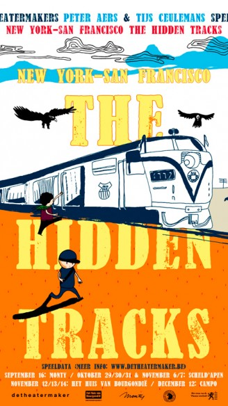 NY-SF_The hidden Tracks van Peter Aers en Tijs Ceulemans<br/>Illustratie: Laetitia Verhetsel